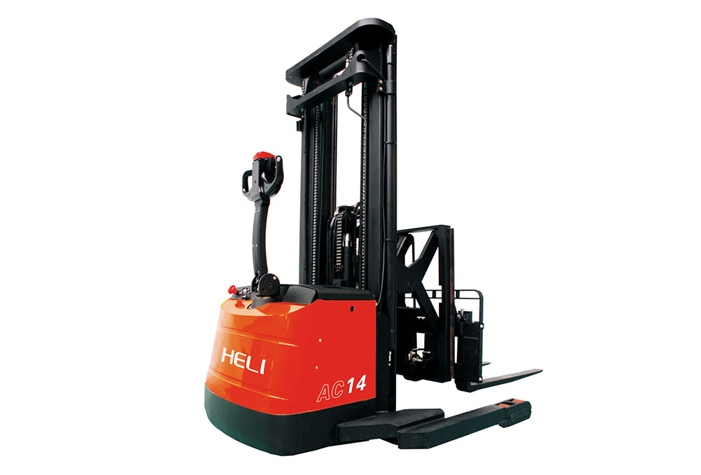 2 Ton Walk Behind Pallet Stacker Electric Forklift Price 1: 1.3 Ton/1.4ton Walk Behind Reach Pallet Stacker CQDH13/14